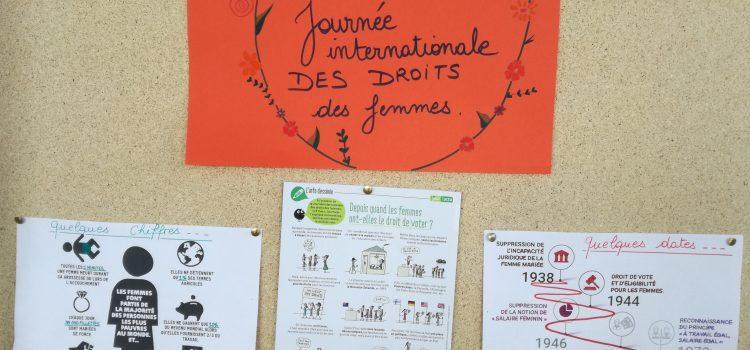 Journée internationale des droits des femmes au CDI