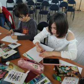 Dernier cours de japonais pour le club manga