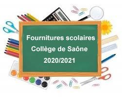 Fournitures scolaires 2020/2021
